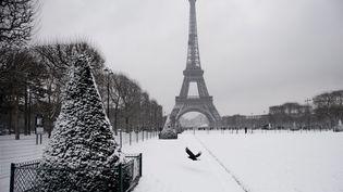 Une vague de neige, qui faiblissait en soirée, a balayé vendredi 9 février le nord et le centre de la France. (MAXPPP)