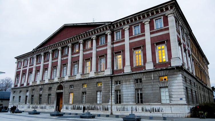 Nordahl Lelandais est entendu pour la troisième fois au palais de justice de Chambéry (Savoie), le 9 novembre 2018. (VINCENT ISORE / MAXPPP)