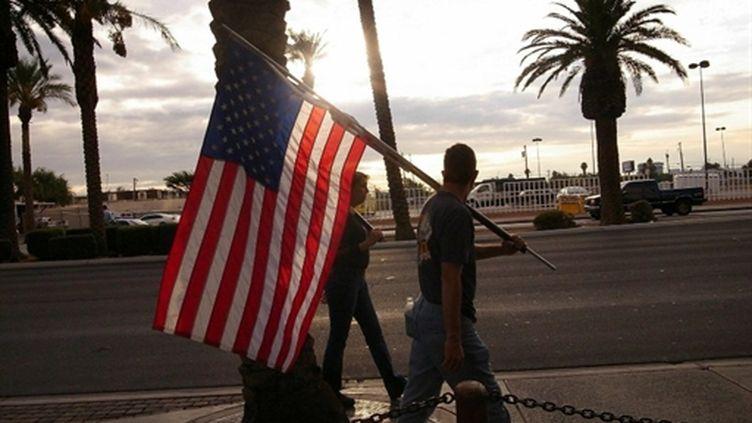 Des syndiqués manifestent à Las Vegas contre un projet de casino sans syndicat (AFP/Spencer Platt)
