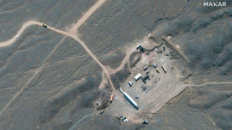 Vue satellite de la centrale de Natanz, en Iran. (AFP PHOTO / SATELLITE IMAGE MAXAR TECHNOLOGIES)