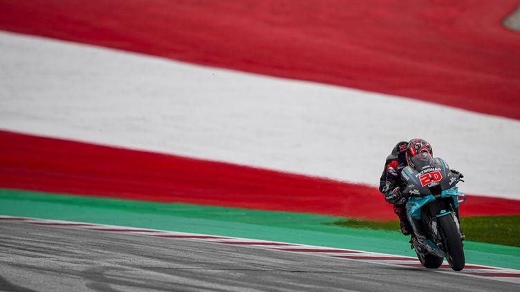 Fabio Quartararo (Yamaha-Petronas) lors des essais du Grand Prix d'Autriche (GIGI SOLDANO / DPPI MEDIA)