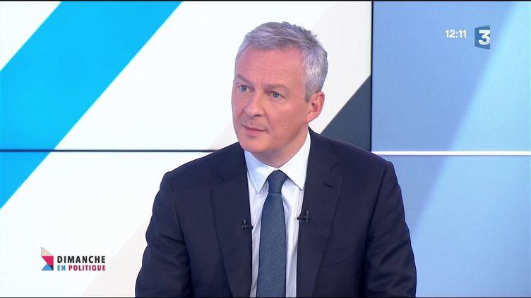 """""""Dimanche en politique"""". Bruno Le Maire (CAPTURE D'ÉCRAN FRANCE 3)"""