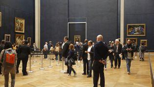 La Salle des Etats du musée du Louvre avec au fond La Joconde (ANTOINE MONGODIN)