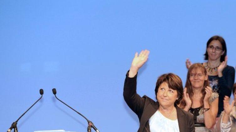 Martine Aubry à un meeting (ERIC CABANIS / AFP)