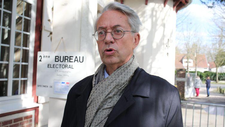 Philippe Marini, le maire de Compiègne, le 15 mars 2020. (DOMINIQUE TOUCHART / MAXPPP)