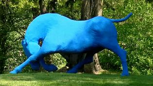 Les sculptures de Nicole Brousse sont installées en ce moment dans le parc d'Ar Milin à Chateaubourg pour l'exposition estivale  (France 3 / Culturebox)