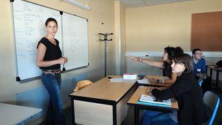 Une classe du lycée professionnel Henri-Gaudier-Brzeska à Saint-Jean-de-Braye (Loiret), en septembre 2013. (JEAN-FRANCOIS MONIER / AFP)
