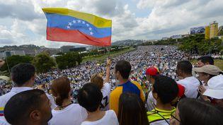 Manifestation contre le présidentNicolas Maduro à Caracas le 26 octobre 2016 (FEDERICO PARRA / AFP)