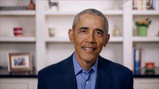 L'ancien président des Etats-Unis, Barack Obama, le 16 mai 2020 dans un message vidéo enregistré. (GETTY IMAGES / AFP)