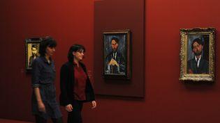 Une exposition Modigliani à Villeneuve-d'Ascq (Nord) auLille Métropole, musée d'art moderne, d'art contemporain et d'art brut, en février 2016. (FRANCOIS LO PRESTI / AFP)