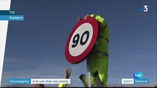 Les routes en Espagne sont désormais limitées à 90 km/h (France 3)